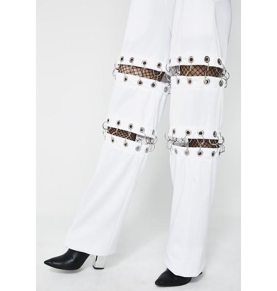 Kiki Riki Snow Don't You Worry Pierced Sweatpants
