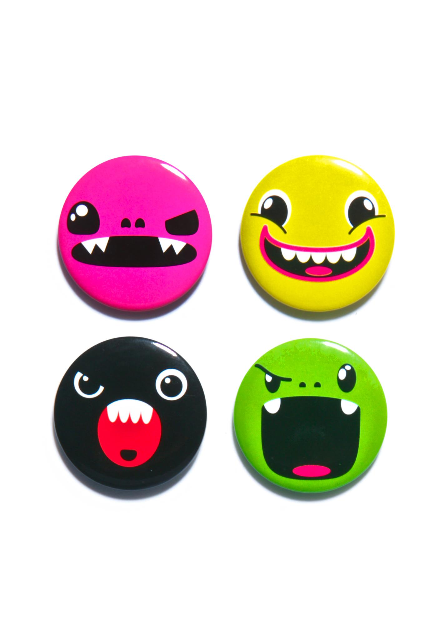 Iron Fist Tribe Face Button Set