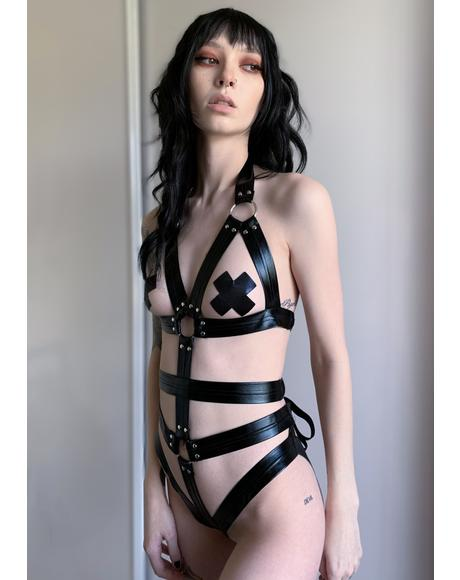 Bound To You Vegan Leather Teddy