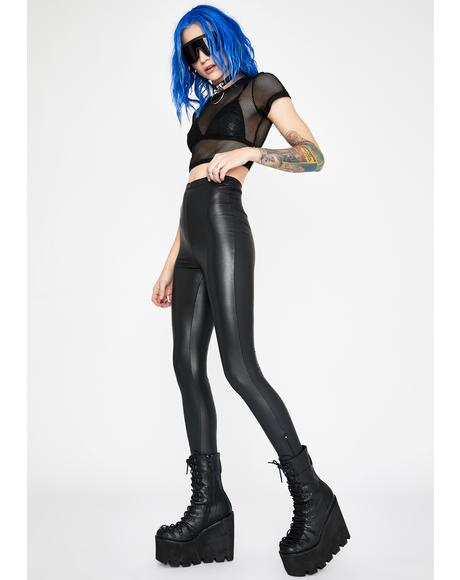 Liquid Chaos Vinyl Leggings