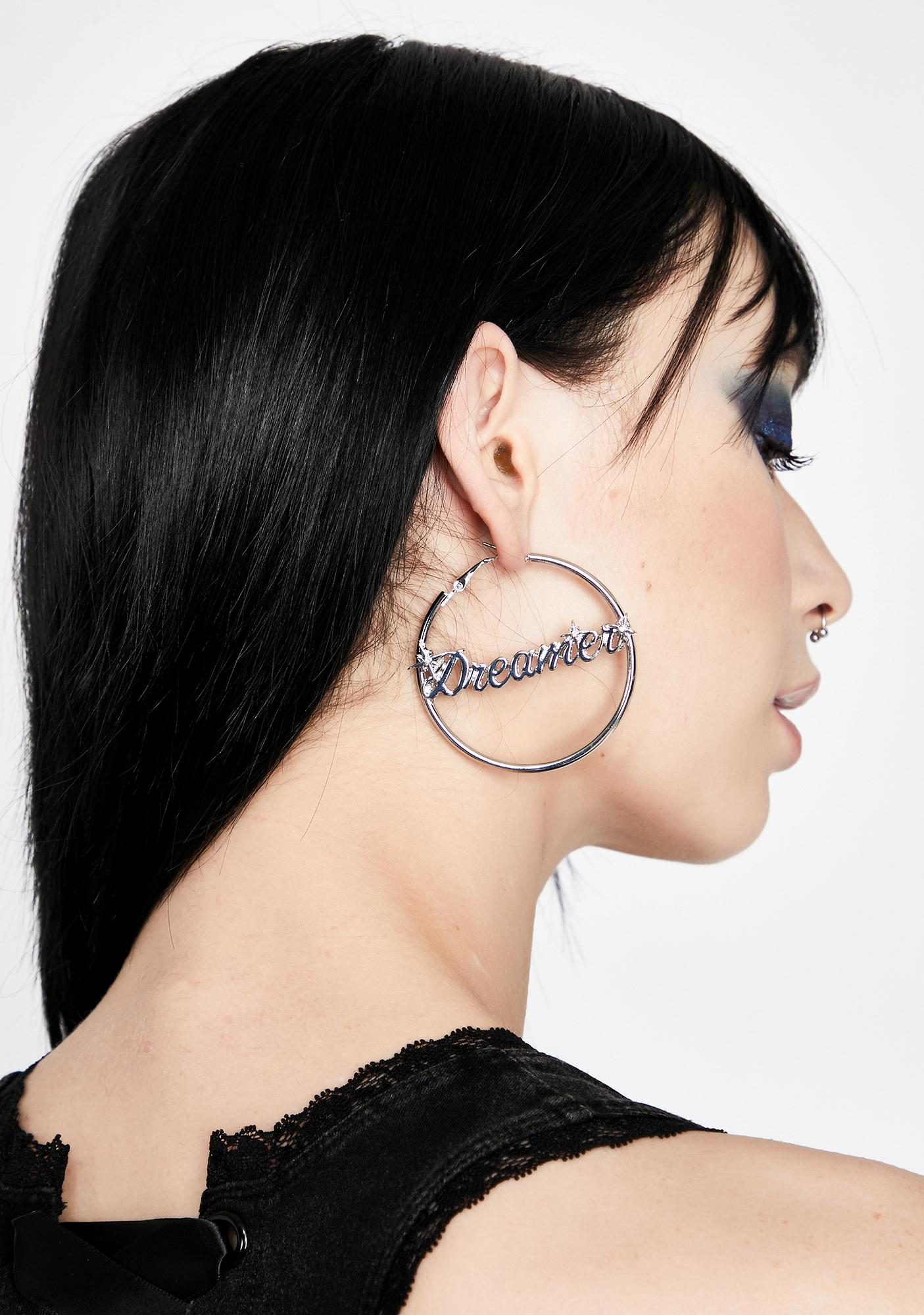 Lost In Thought Hoop Earrings