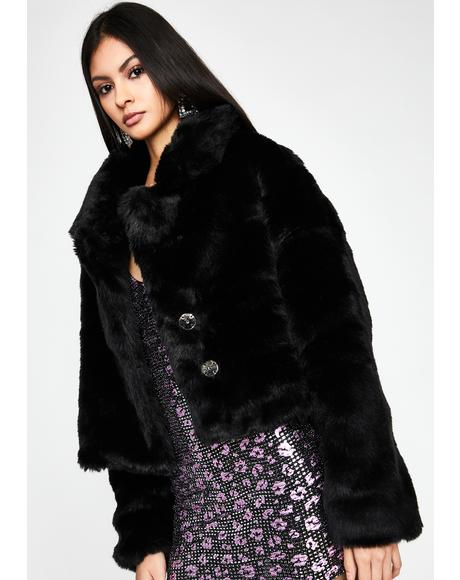 Midnight Doll Life Faux Fur Jacket