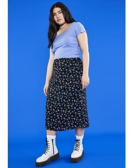 Gotta Gimme The 411 Midi Skirt