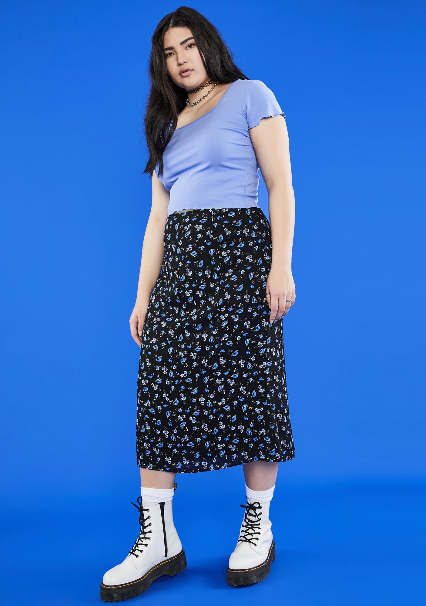 dELiA*s by Dolls Kill Gotta Gimme The 411 Midi Skirt
