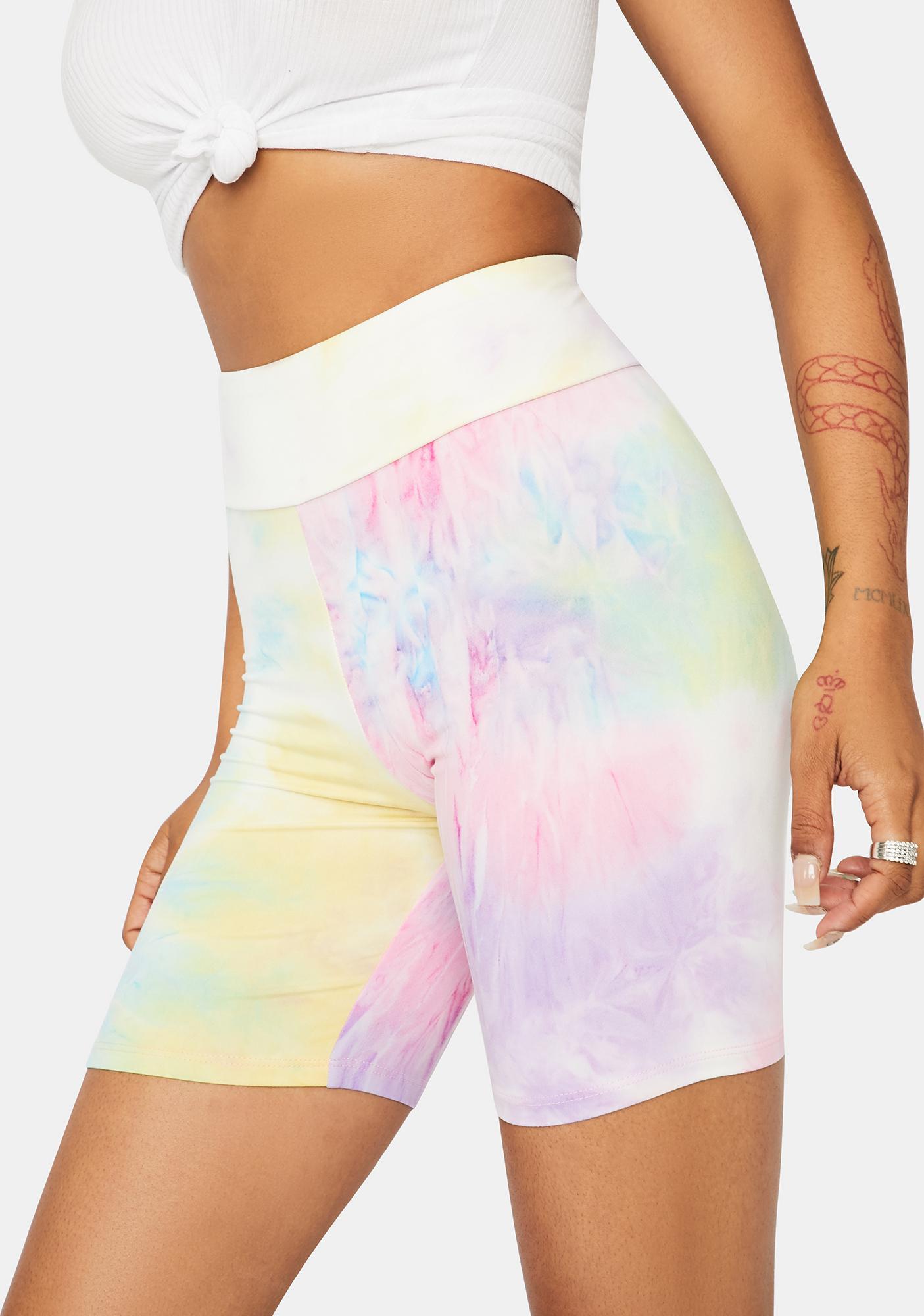 Sherbet Chiller Vibes Tie Dye Biker Shorts