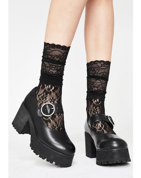 Noir Lady Lola Lace Socks