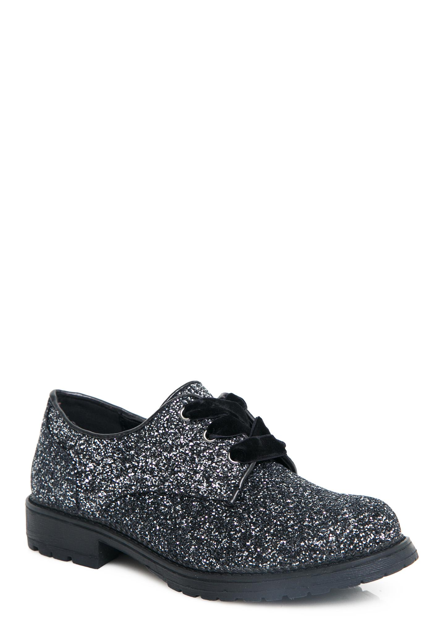 Static Soul Glitter Oxfords
