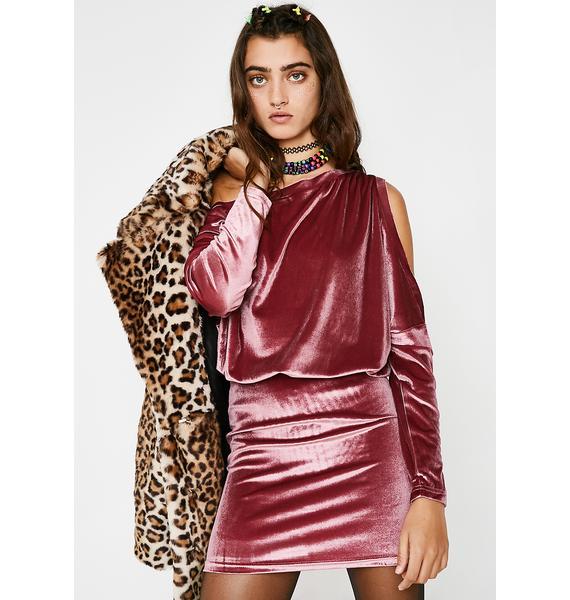 Sassin' Off Velvet Dress