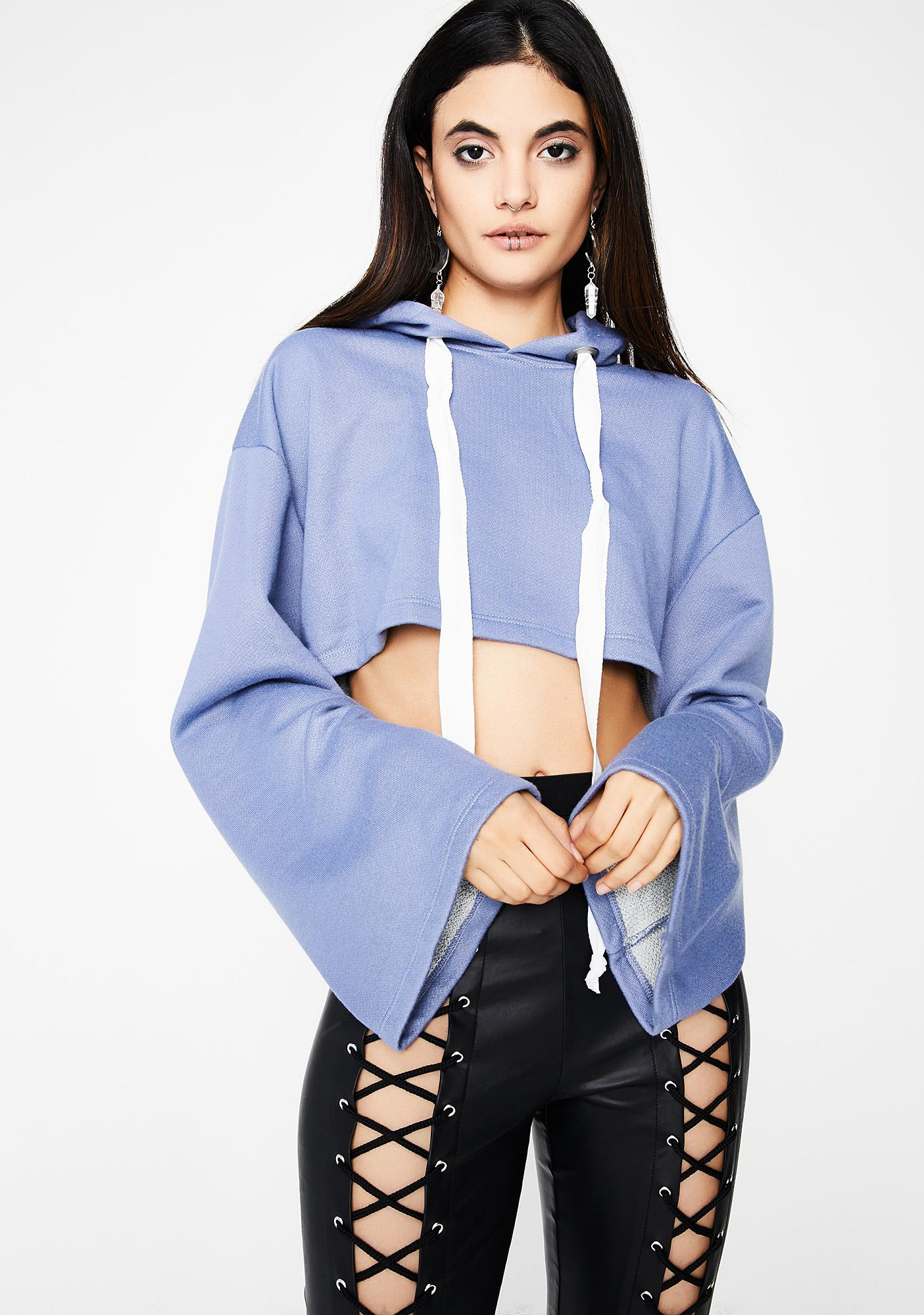 Partly Cloudy Cropped Hoodie