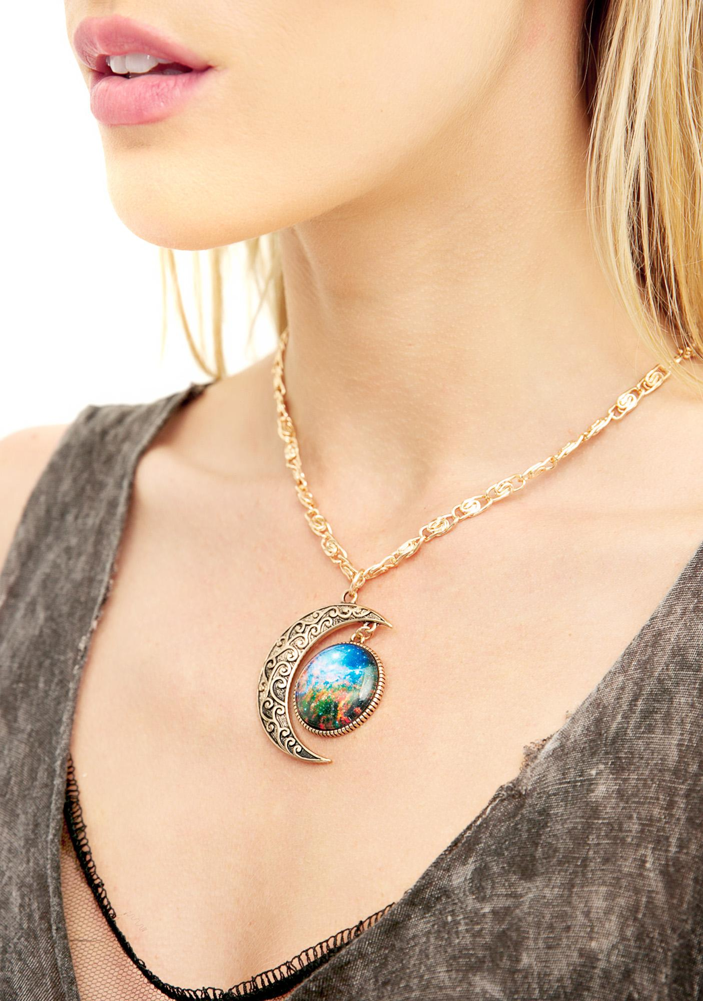 Moon N Galaxy Necklace