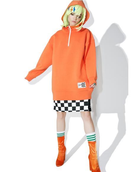 Half Zip Hoodie Dress