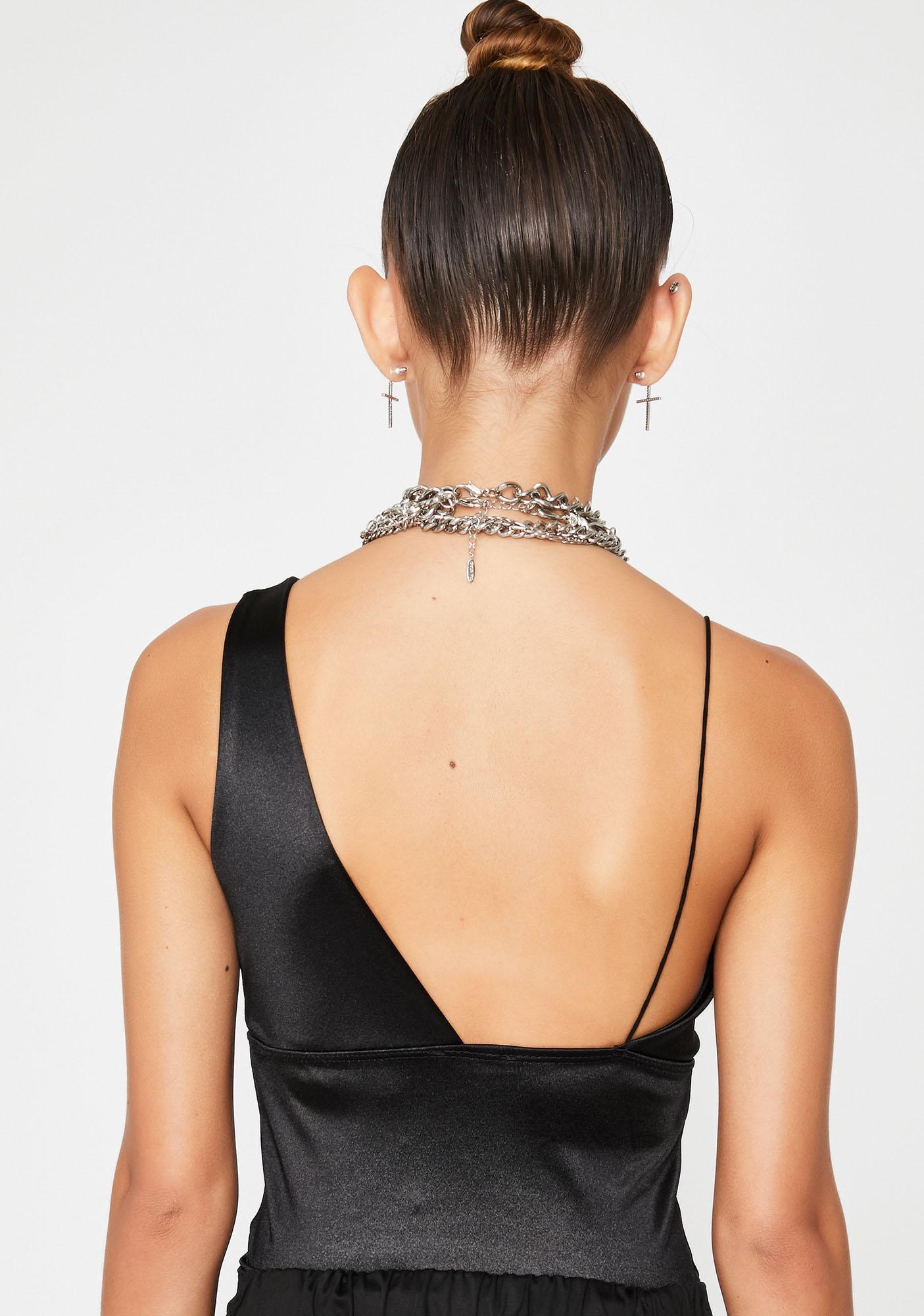 Sinful Secret Affair Asymmetrical Bodysuit