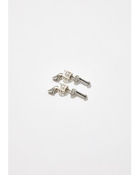 Love Roulette Gun Earrings