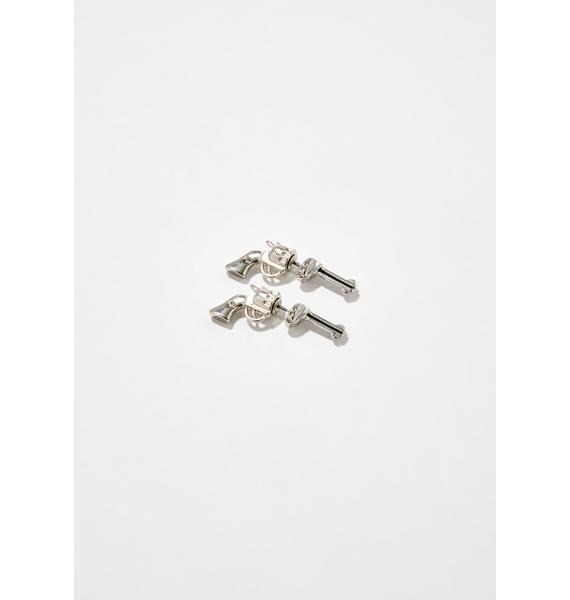 Love Roulette Gun Earrings