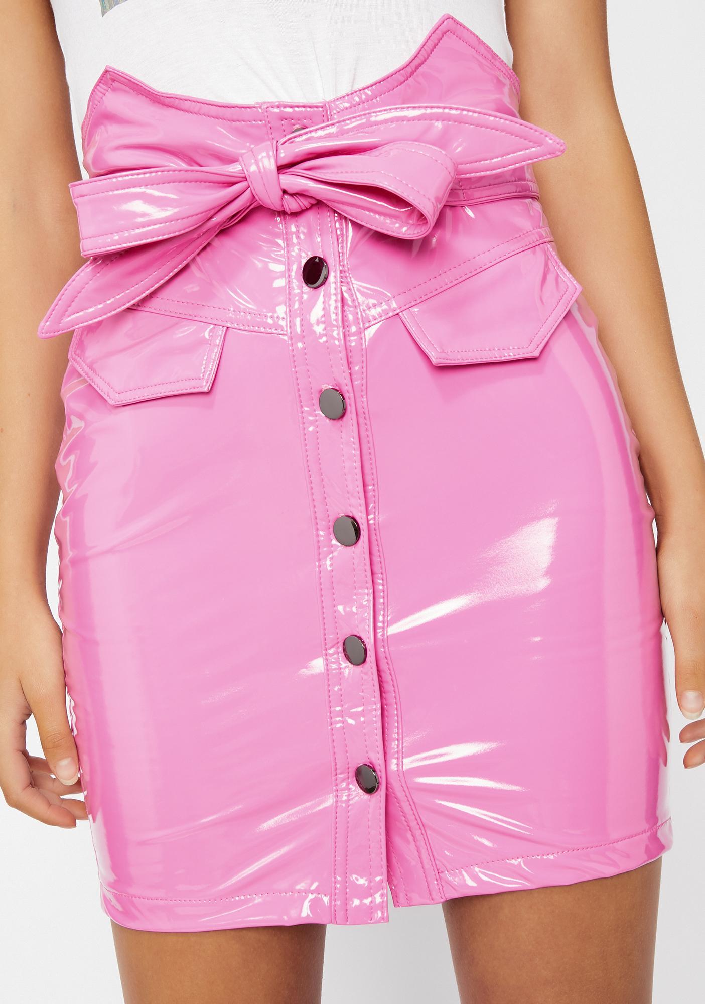 Candy Coated Her Lil Secret Vinyl Skirt