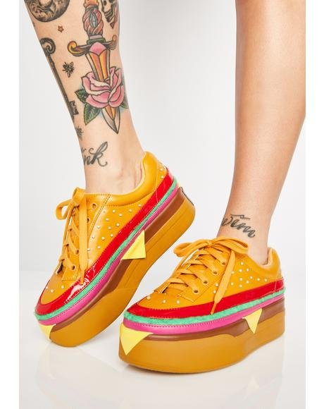 Extra Cheese Plz Burger Sneakers