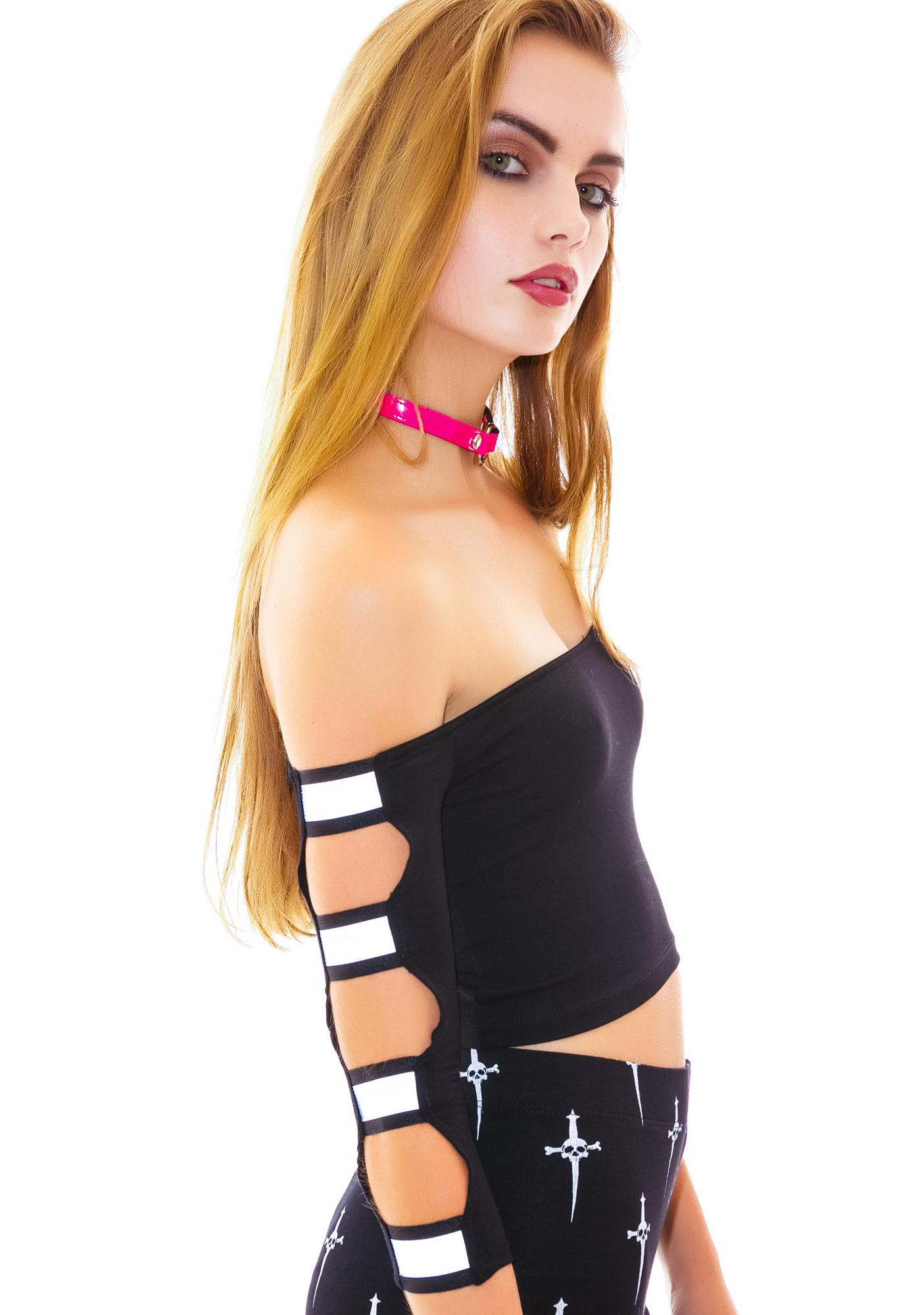 24HRS Watch Me Tank With Reflective Tape Straps