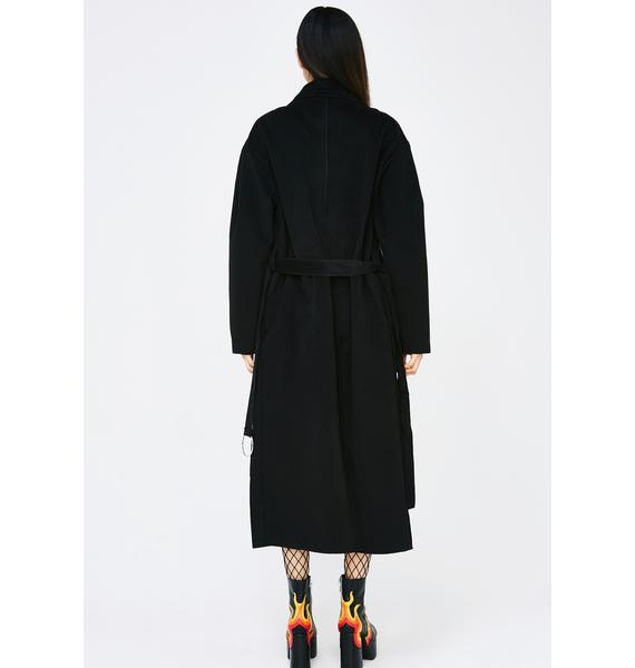 Midnight Mobbin' Deep Trench Coat
