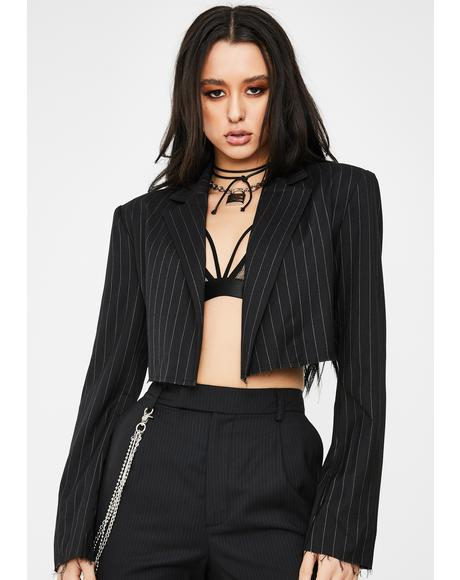 Clout Currency Cropped Blazer