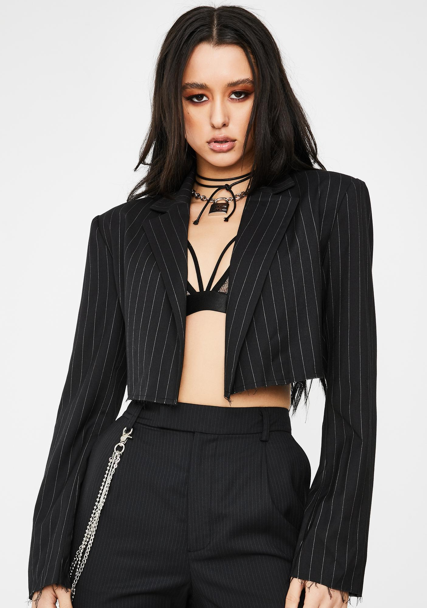 Poster Grl Clout Currency Cropped Blazer