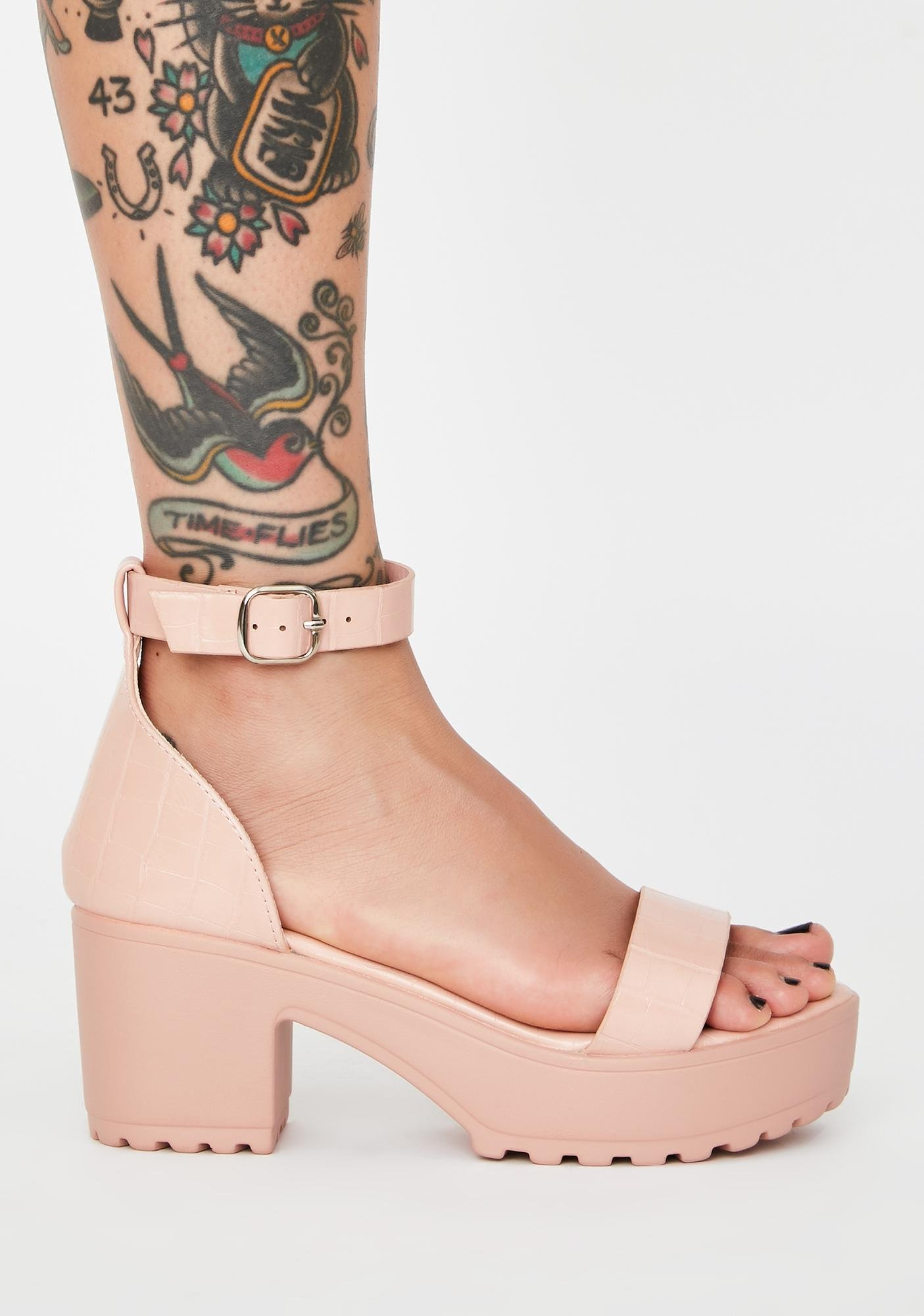 Blush Get Around Platform Sandals