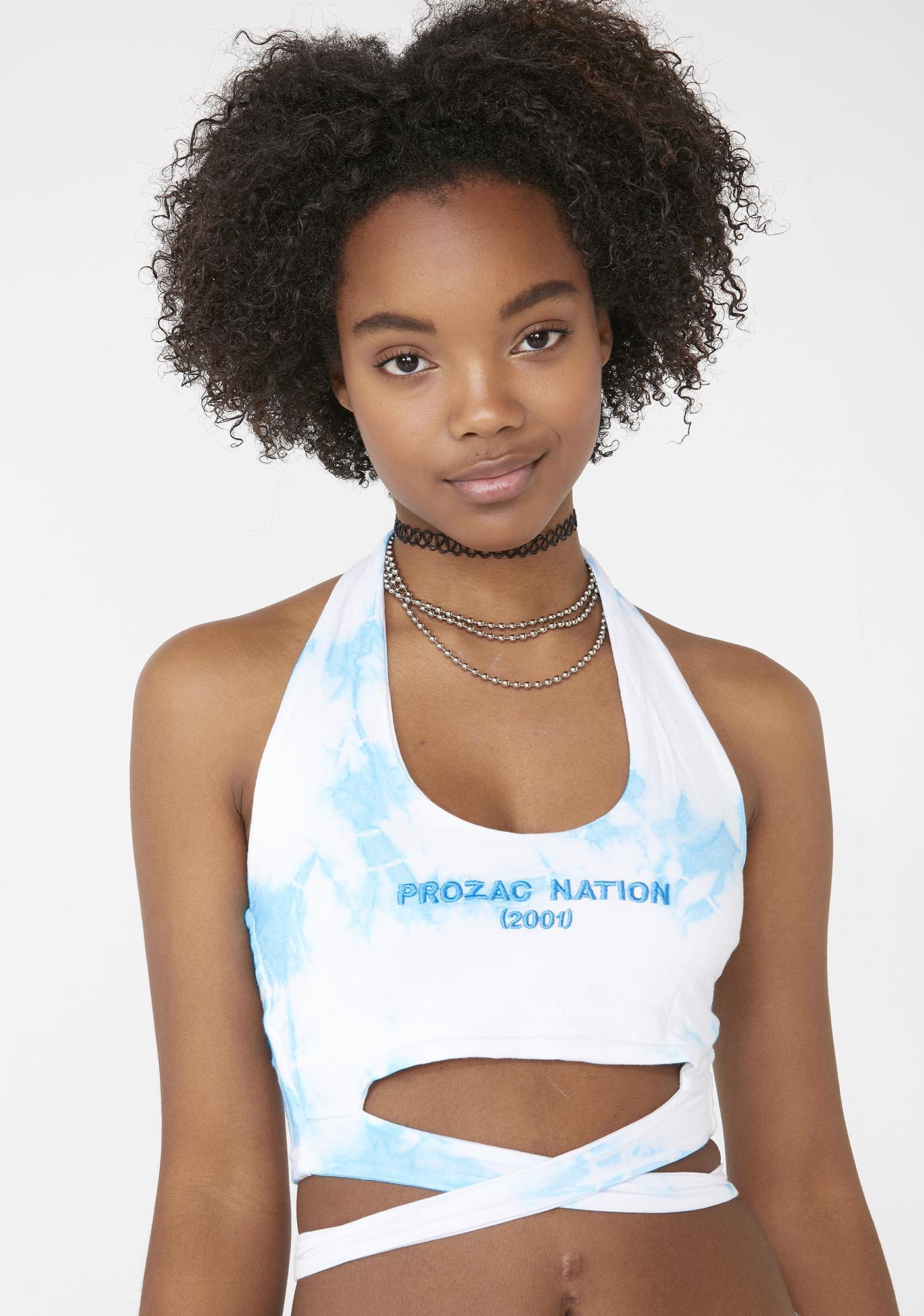 O Mighty Prozac Nation Tie Dye Halter