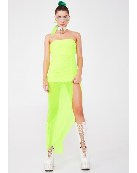 Sour Solar Princess Maxi Dress