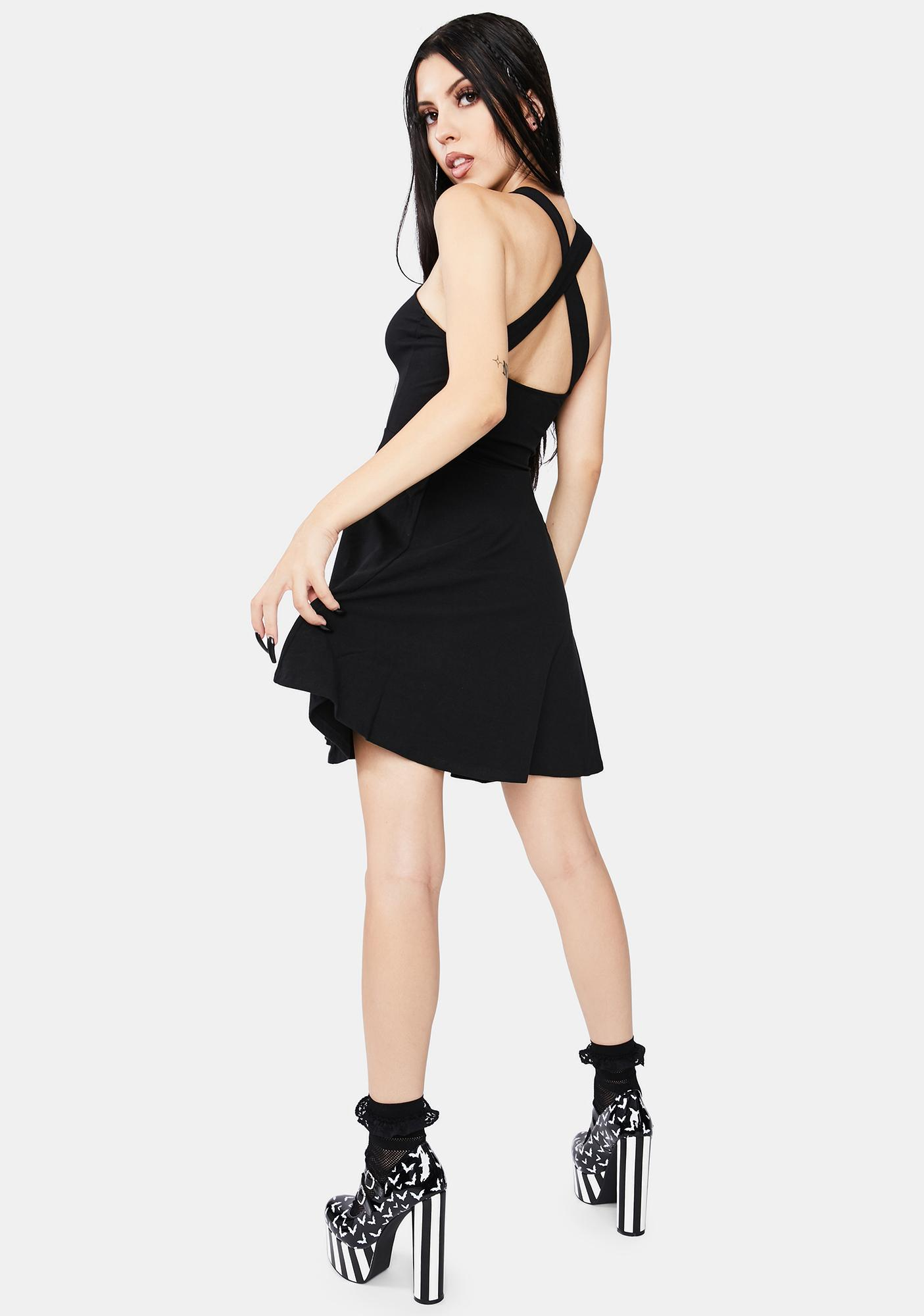 Kreepsville 666 Black Cat Kattitude Pinafore Dress
