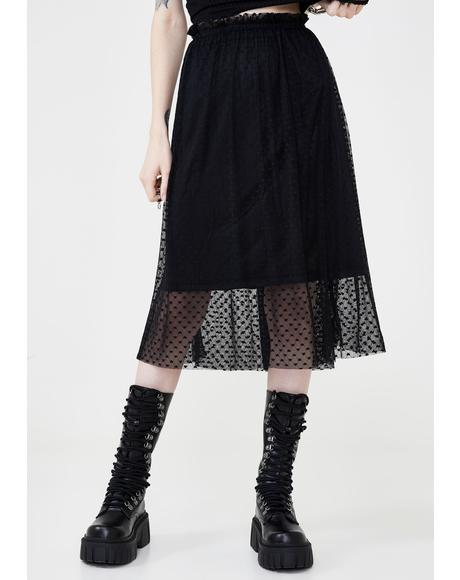 Broken Heart Midi Skirt