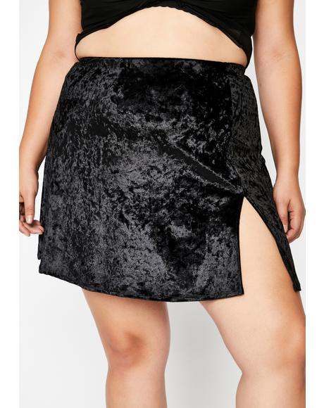 Night Crisis Mode Velvet Skirt