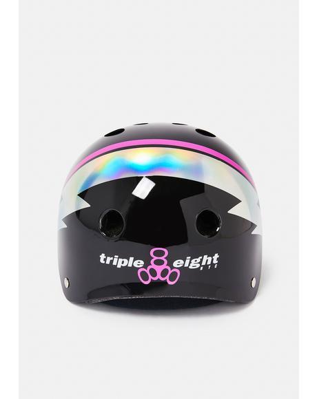 Black Lightning Hologram Sweatsaver Helmet