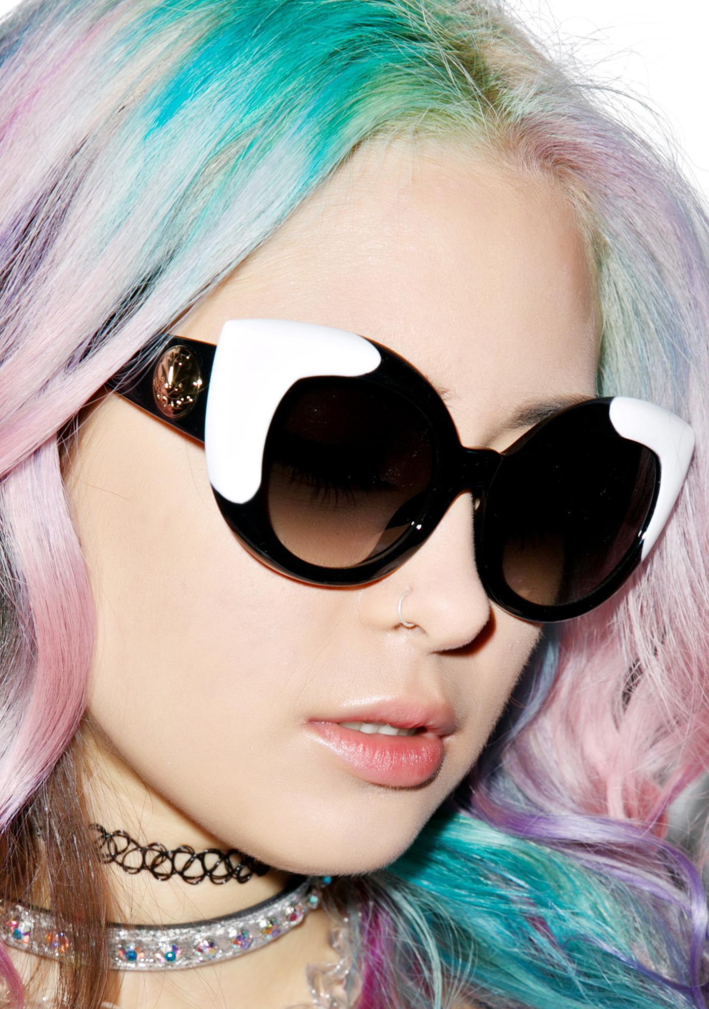 Crap Eyewear The Gradient Diamond Brunch Sunglasses