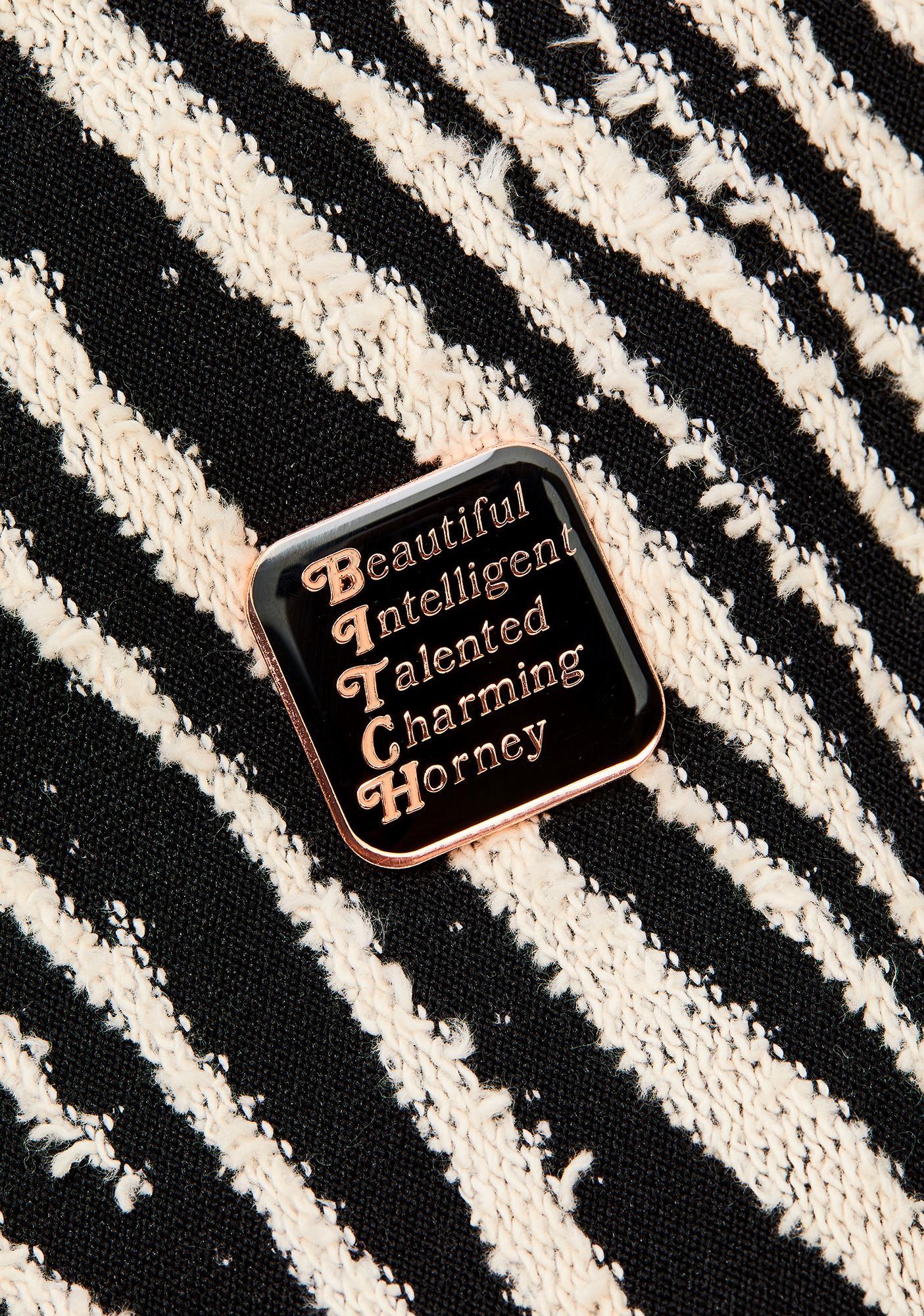 Rosehound Apparel Bitch Lapel Pin