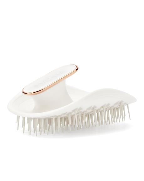 White & Rose Gold Manta Hair Brush