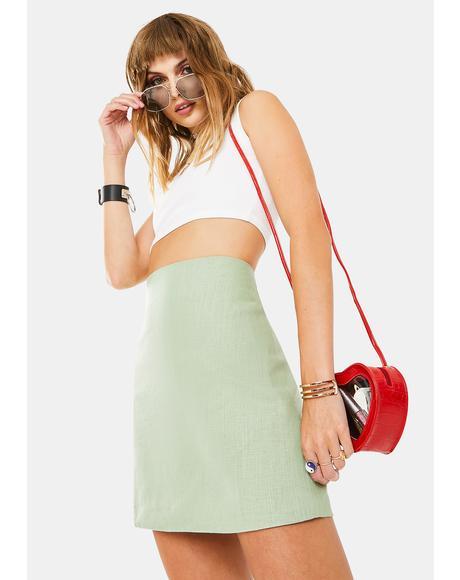 Sage Mini Skirt