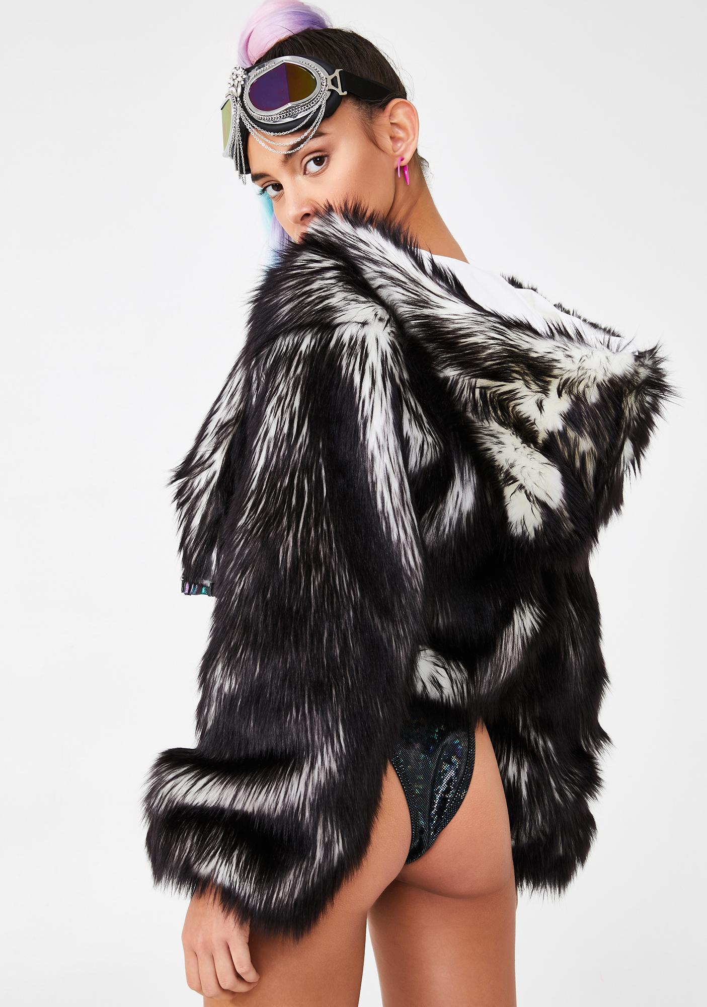 J Valentine Volcanic Light-Up Faux Fur Jacket