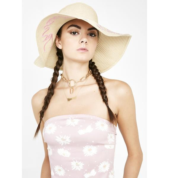 Skinnydip Throwing Shade Straw Hat