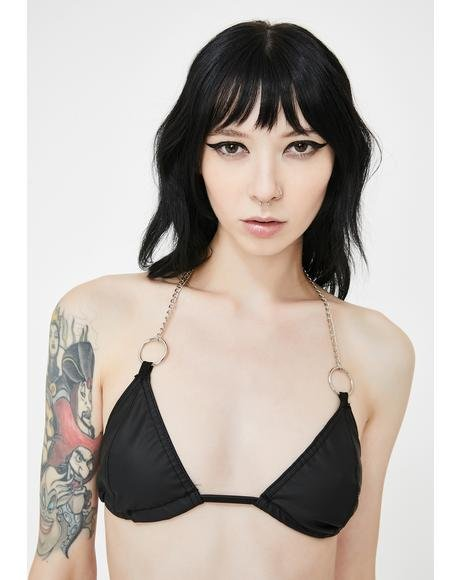 Lustful Darkness Chain Bra