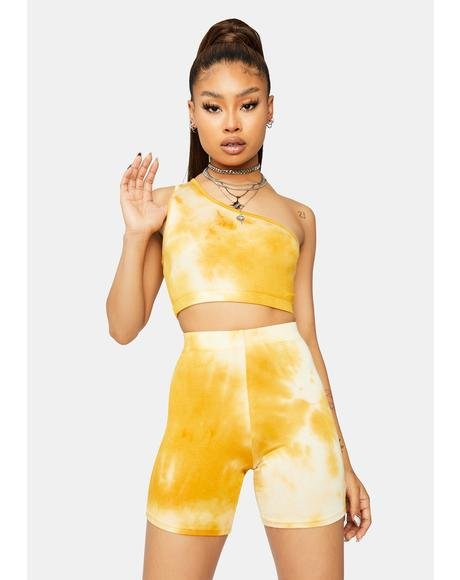 Golden Hour Tie Dye Shorts Set