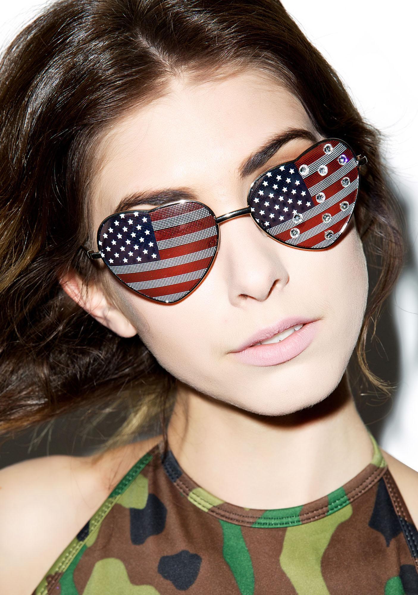 Gasoline Glamour All American Girl Sunglasses