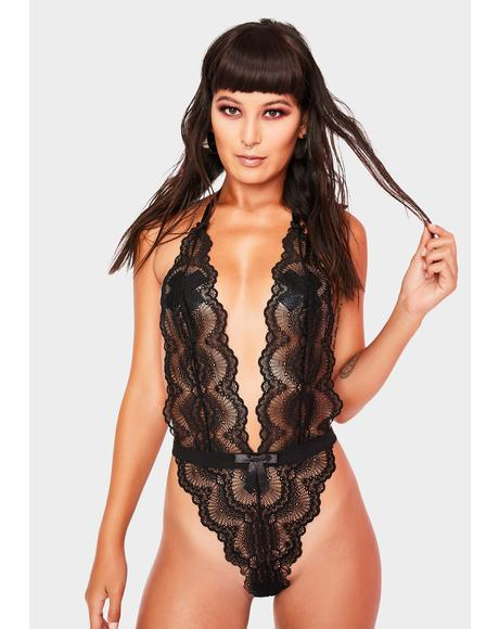 Alessa Scalloped Lace Teddy