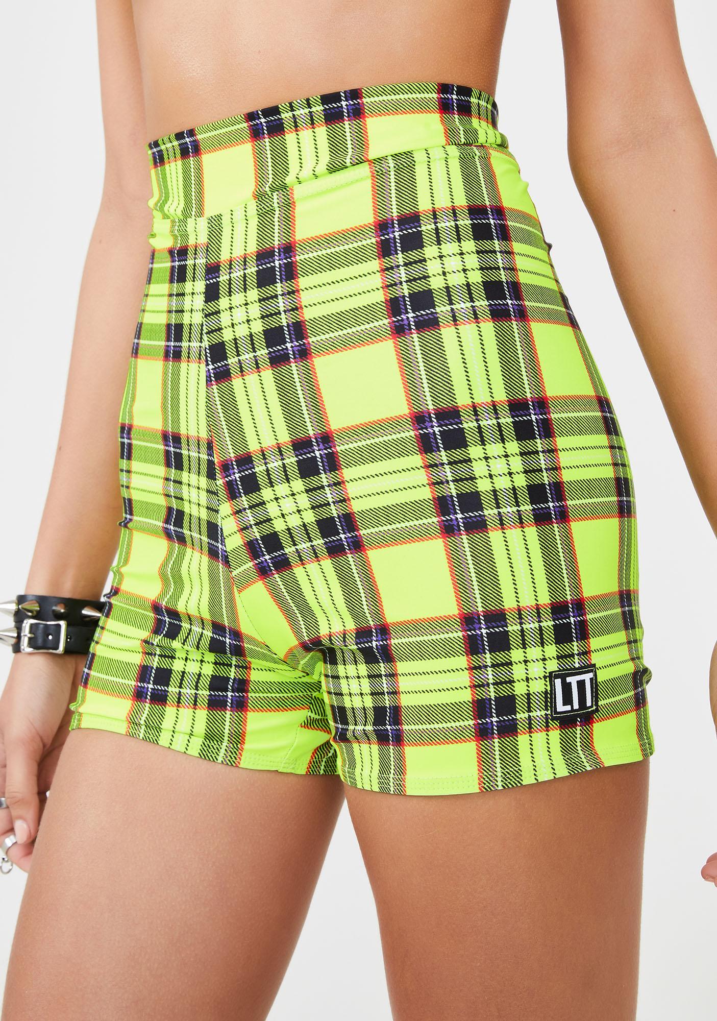 LOVE TOO TRUE Betty Plaid Shorts