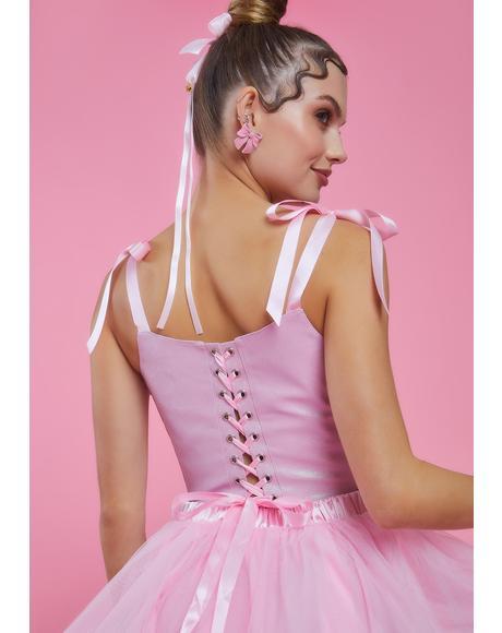 Burlesque Baby Glitter Corset Top