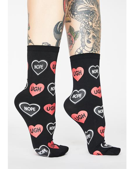 Candy Hearts Ankle Socks