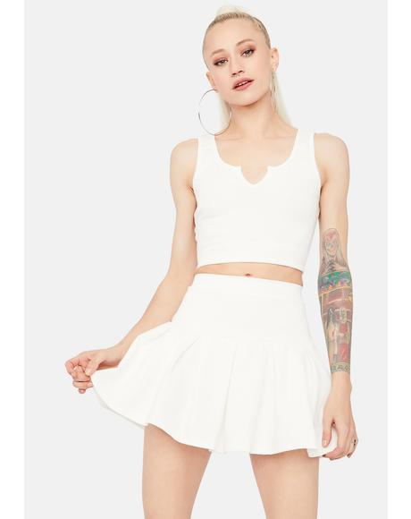 Angel Cheerful Player Tank Pleated Skirt Set