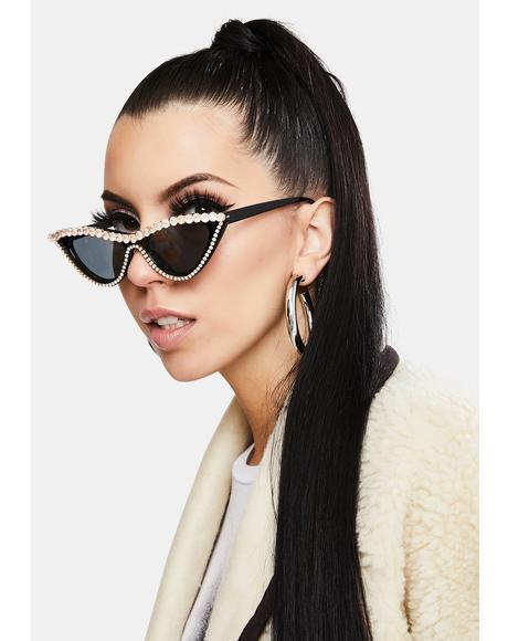 Dark Winner Takes All Cat Eye Sunglasses