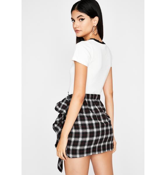 Stay Wishin' Ruffle Mini Skirt
