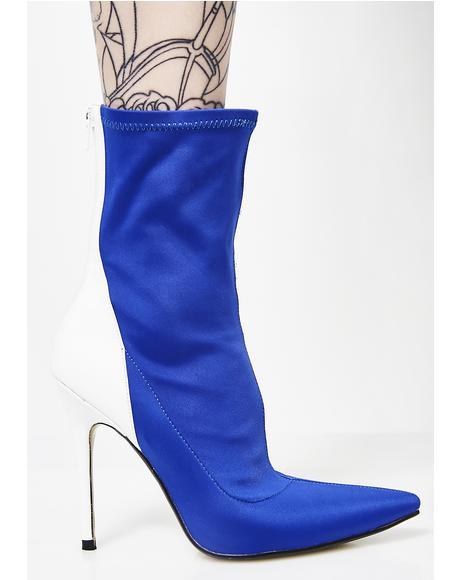 Staple Patent Stiletto Heel Ankle Boots