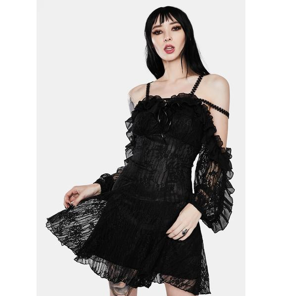Dark In Love Gothic Princess Sexy Lace Dress