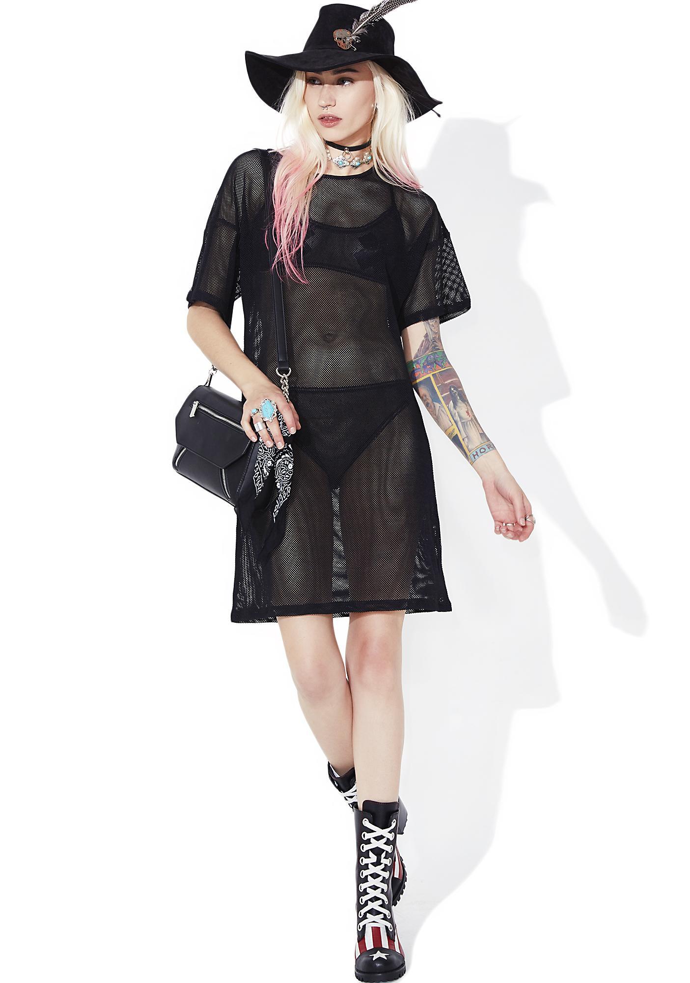 Black Swan Mesh Dress